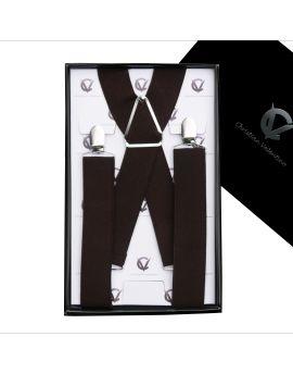 Men's Dark Brown X3.5cm Braces