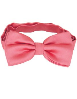 Dark Coral Salmon Melon Bow Tie