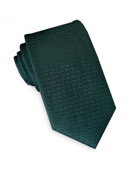 green textured slim tie