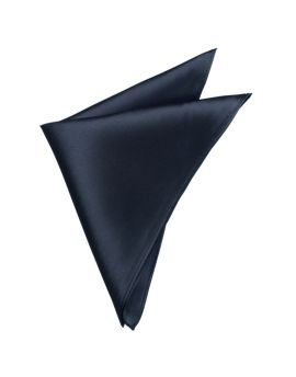 Mens Dark Silver Grey Pocket Square