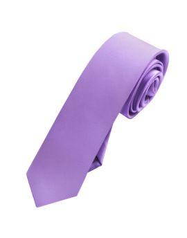 Mens Dark Lavender Skinny Tie