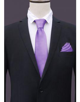 Mens Dark Classic Lavender Tie