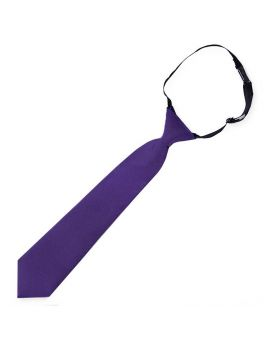 Dark Purple Junior Boys Elasticated Tie