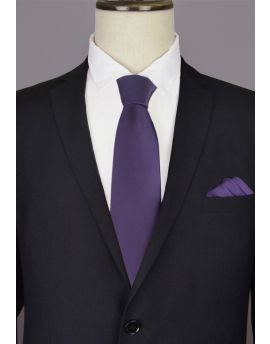 Dark Purple Men's Tie