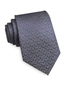 Dark Silver Reptile Skin with Purple Highlights Mens Tie