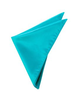 Mens Dark Turquoise Aqua Pocket Square