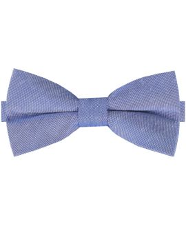 Denim Blue Cotton Mens Bow Tie