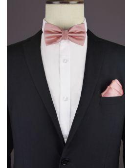 blush bow tie