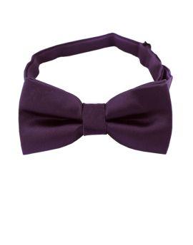 Grape Eggplant Boys Bow Tie
