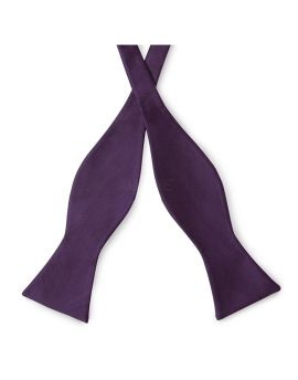 Grape Eggplant Self Tie Bow Tie