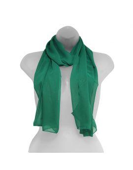 Emerald Green Chiffon Scarf