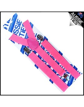 Fluorescent Pink Braces Suspenders