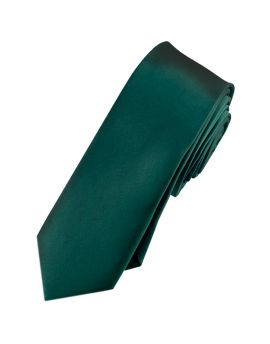 Mens Forest Green Skinny Tie