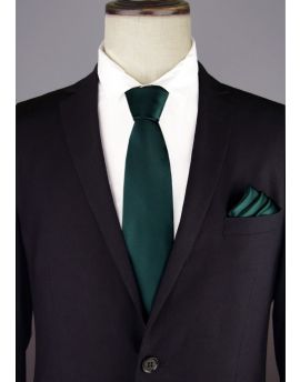 Mens Forest Dark Green Tie