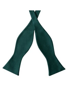 Forest Dark Green Self Tie Bow Tie