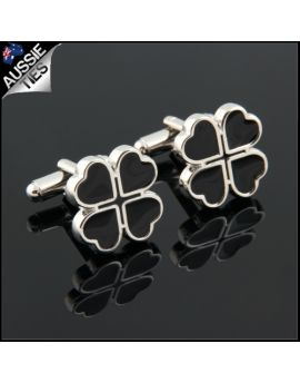 Mens Four Leaf Clover Cufflinks