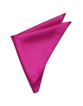 Mens Fuschia Magenta Pink Pocket Square