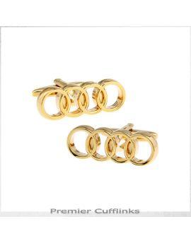 Gold Audi Cufflinks