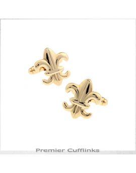 Gold Fleur De Lis Cufflinks