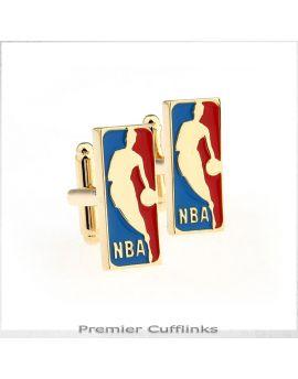 Gold NBA Cufflinks