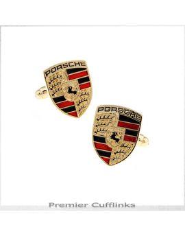 Gold Porsche Cufflinks
