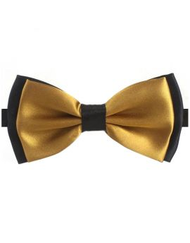 Gold with Black Back Bow Tie