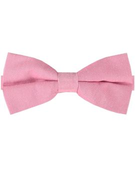 Grapefruit Pink Cotton Mens Bow Tie
