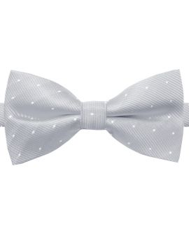 light grey with polka dots bow tie