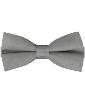 Gun Metal Grey Cotton Men's Bow Tie