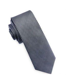 Houndstooth Mens Skinny Tie
