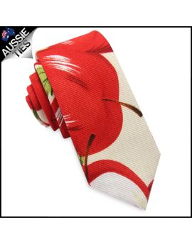 Red Apples Men's Skinny Tie