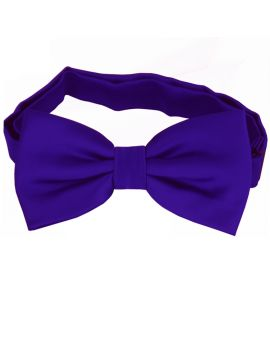 Electric Blue Indigo Bow Tie