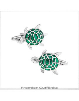 Jade Turtle Cufflinks