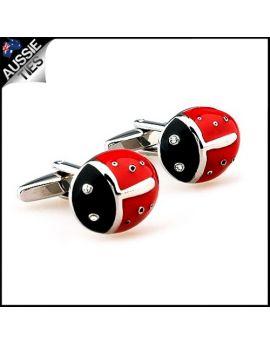 Mens Ladybird Ladybug Cufflinks