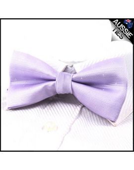 Lavender with small polka dots bow tie