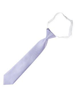 Lavender Lilac Purple Junior Boys Elasticated Necktie