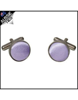 Mens Lavender Lilac Purple Cufflinks