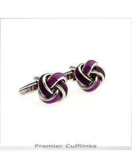 Light and Dark Purple Knots Cufflinks