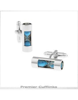 Light Blue Hourglass Cufflinks