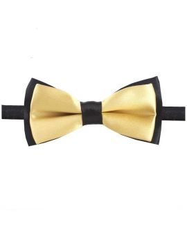 Light Gold with Black Back Boy's Bow Tie