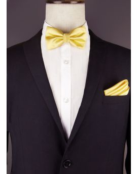 light gold bow tie