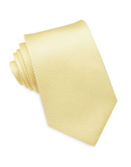 Light Gold Woven Texture Mens Tie