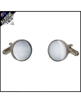 Mens Light Silver Grey Cufflinks