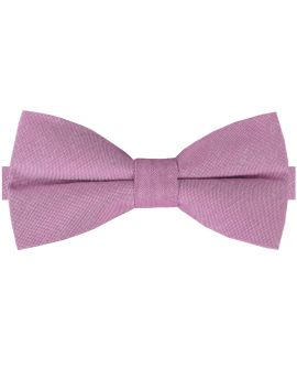 Lilac Purple Cotton Mens Bow Tie
