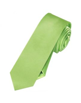 Mens Lime Green Skinny Tie