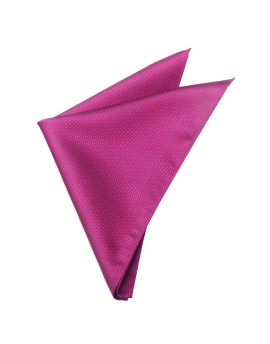 Magenta Cerise Pink Woven Texture Pocket Square