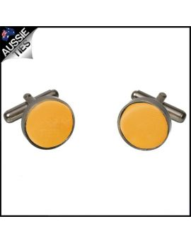 Mens Marigold Bumblebee Yellow Cufflinks