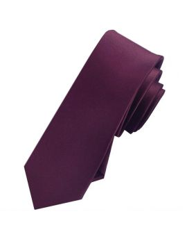Mens Maroon Skinny Tie