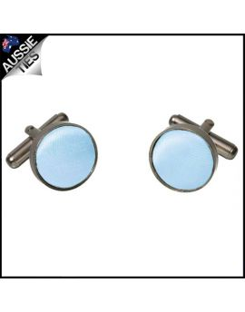 Mens Baby Sky Blue Cufflinks