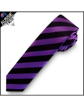 Purple & Black Mens Skinny Tie